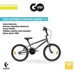 Vélo à Go Sport
