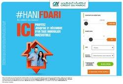 Promos de Banques dans le prospectus à Credit du Maroc ( Plus d'un mois)