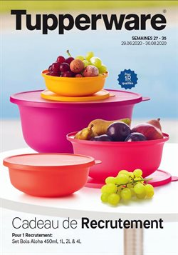 Tupperware coupon ( Plus d'un mois )