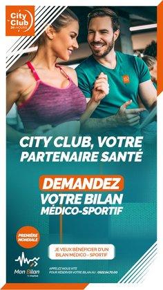 Promos de Sport dans le prospectus à City Club ( 5 jours de plus)