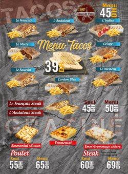 Promos de Restaurants dans le prospectus à Tacos de France ( Plus d'un mois)
