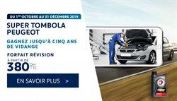 Promos de Voitures, Motos et Accessoires dans le prospectus de Peugeot à Marrakech