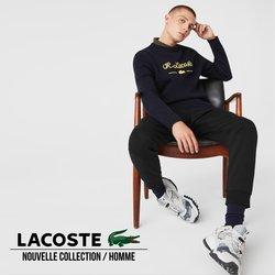 Promos de Vetêments, chaussures et accessoires dans le prospectus à LACOSTE ( Plus d'un mois)