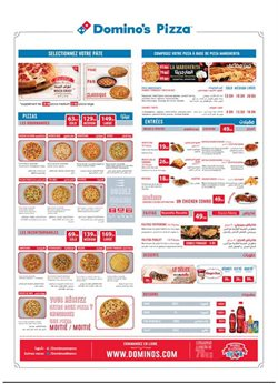 Promos de Restaurants dans le prospectus de Domino's Pizza à Casablanca ( 3 jours de plus )