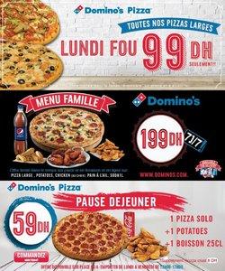 Promos de Restaurants dans le prospectus à Domino's Pizza ( 8 jours de plus)