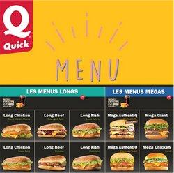 Promos de Restaurants dans le prospectus à Quick ( Plus d'un mois)