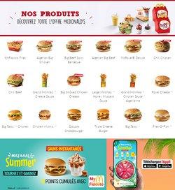 Promos de Restaurants dans le prospectus à McDonald's ( Plus d'un mois)
