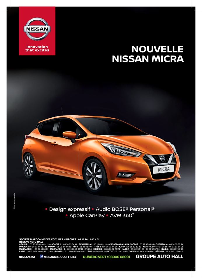 Catalogue Nouvelle Nissan Micra Promotion 30/12/2019 AU 24/08/2020