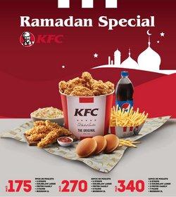 Promos de Ramadan dans le prospectus à KFC ( 13 jours de plus)