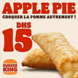 Promos de Restaurants dans le prospectus de Burger King à Casablanca ( 10 jours de plus )