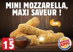 Promos de Burger King dans le prospectus à Casablanca