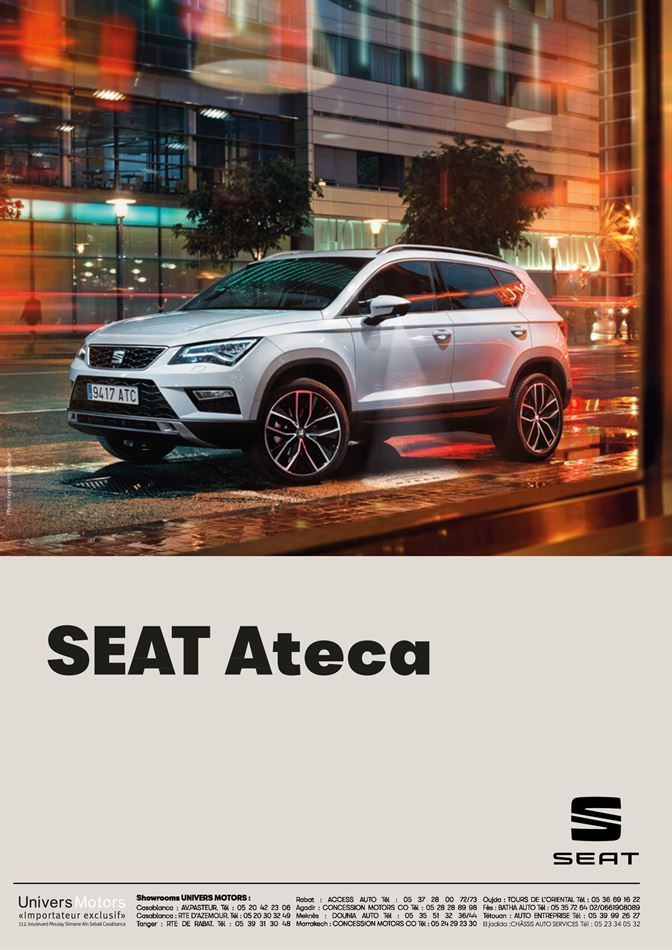 Catalogue Seat Ateca Promotion 31/03/2020 AU 06/10/2020