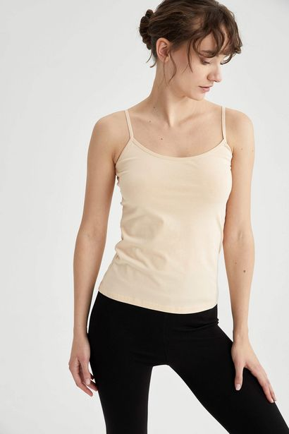 CLASSIC COTTON TANK TOP WITH ROPE STRAP offre à 29 Dh