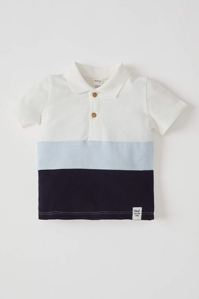 BABY BOY POLO NECK SHORT SLEEVE T-SHIRT offre à 59 Dh