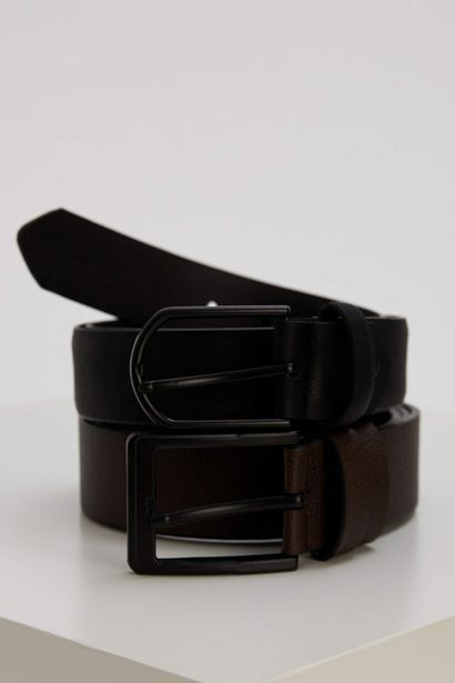 FAUX LEATHER SPORT AND CLASSIC 2-PACK BELT offre à 49 Dh