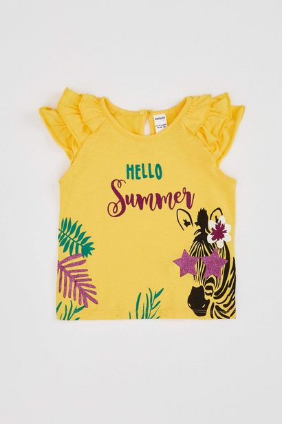 BABY GIRL RUFFLE DETAILED PRINTED BODY offre à 59 Dh