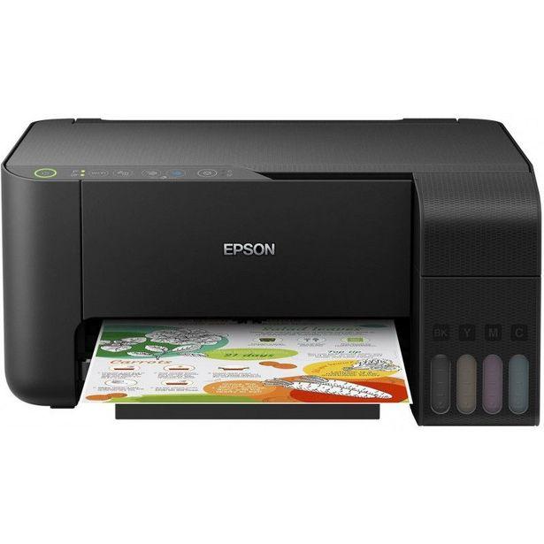 Imprimante EPSON EcoTank ITS L3150 /Multifonction /Impression - Copie - Numérisation /33 ppm Noir - 10 ppm Couleur /5760 x 1440 DPI /USB - WiFi - WiFi Direct /A4 offre à 2490 Dh