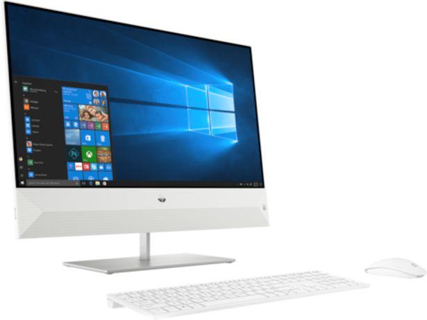 """PC de Bureau HP Pavilion AIO 24-xa0013nk /i5-9400T /1,8 GHz /8 Go /1 To /Blanc /23.8"""" /Intel UHD 630 /Windows 10 Famille offre à 12828 Dh"""