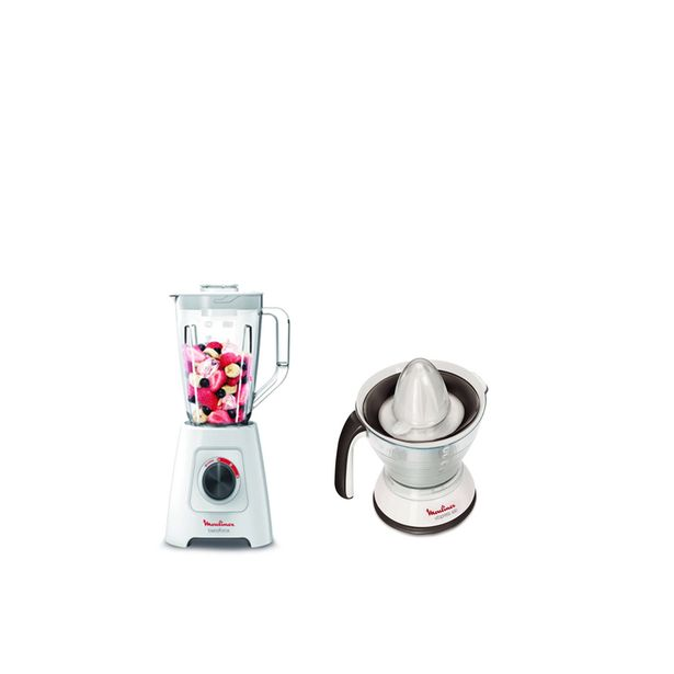 BLENDER 2L 600W LM422+PRESS ORANGE PC300B MOULINEX offre à 599 Dh