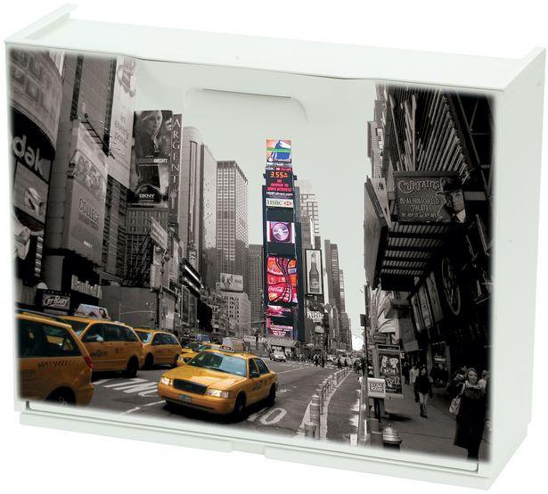 ARMOIRE POUR CHAUSSURES 51X13X40 CM MOTIF NEW YORK offre à 199 Dh