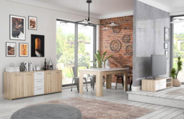 Pack salon PILVI : Meuble TV + Buffet + Table à manger offre à 2495 Dh