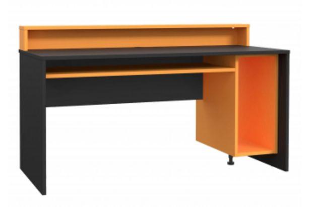 Bureau TEAZUR avec LED - Noir et orange offre à 2190 Dh