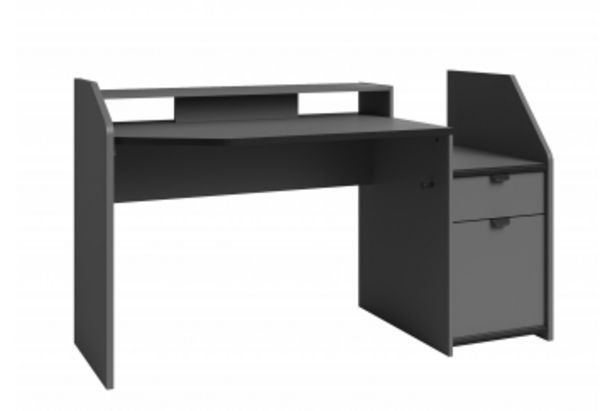 Petit bureau gamer SET UP - Gris offre à 2450 Dh
