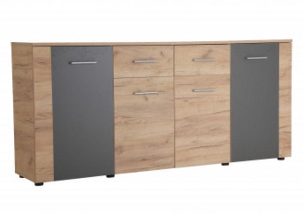 Commode UNO 4 portes et 2 tiroirs Marron Craft offre à 1795 Dh