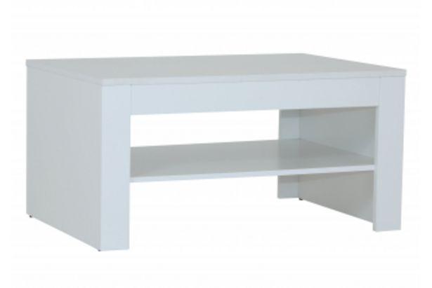 Table basse SELENE Blanc Brillant offre à 1195 Dh