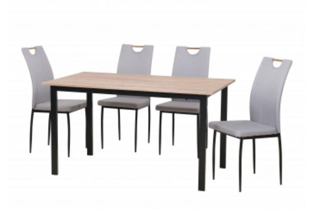 Set ARTY table + 4 chaises  Chêne Beige et Noir offre à 3095 Dh