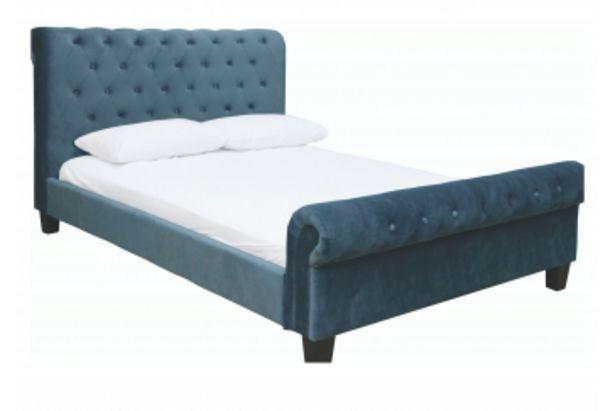 Lit CEDRAVILLE 160x200 - Bleu offre à 8390 Dh