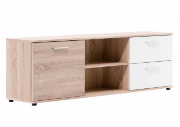 Meuble TV LUND - Chêne et Blanc offre à 1195 Dh