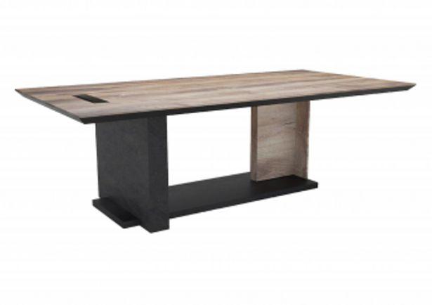 Table de réunion EMBASSY - Noir et marron oak offre à 8999 Dh