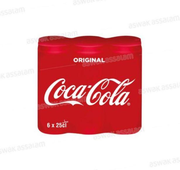 COCA-COLA CANNETTE SLIM PACK 6*25CL offre à 19,95 Dh