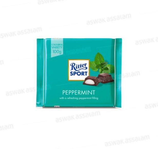 CHOCOLAT PEPPERMINT 100G RITTER SPORT offre à 19,45 Dh