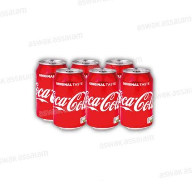 COCA COLA CANETTE PACK 6*33CL offre à 35,5 Dh