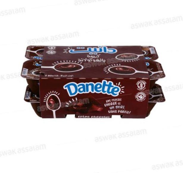 DANETTE CREME DESSERT CHOCOLAT 12*80G offre à 19,95 Dh