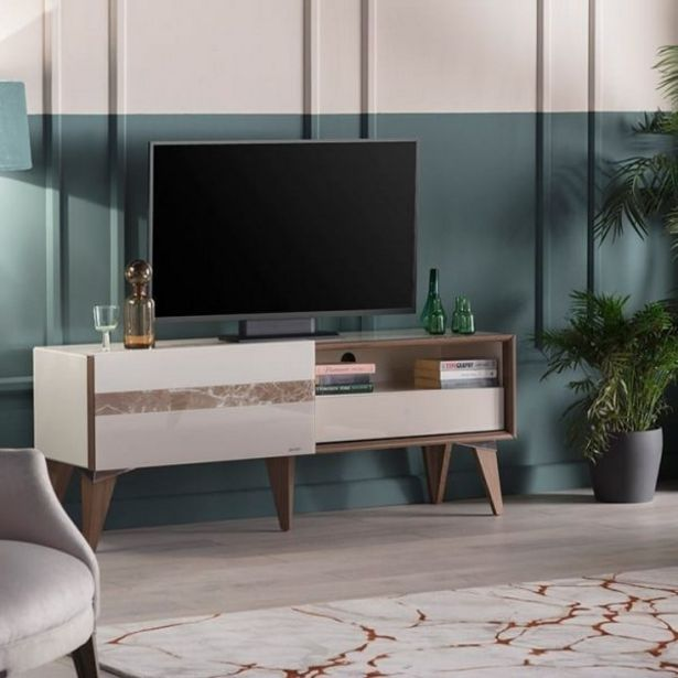 SCARLET TABLE TV IVORY/HALIC WALNUT offre à 3368 Dh
