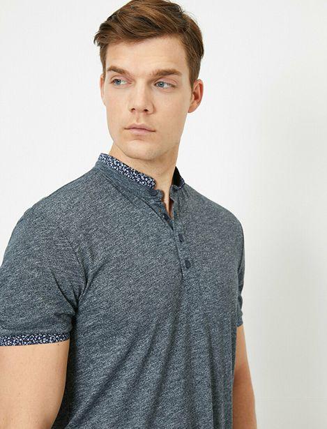 Mandarin Collar T-Shirt offre à 39,99 Dh