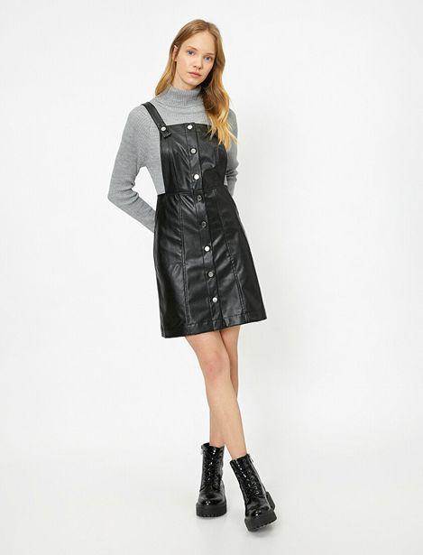 Leather Look Dress offre à 63,99 Dh