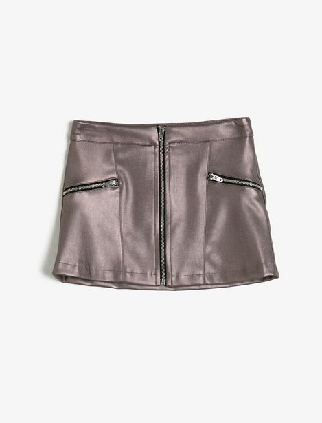 Leather Look Skirt offre à 49,99 Dh