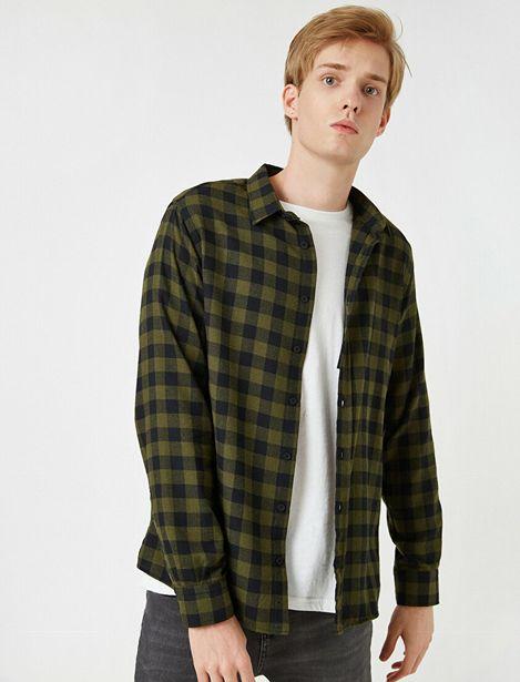 Check Long Sleeve Classic Collar Shirt offre à 47,99 Dh