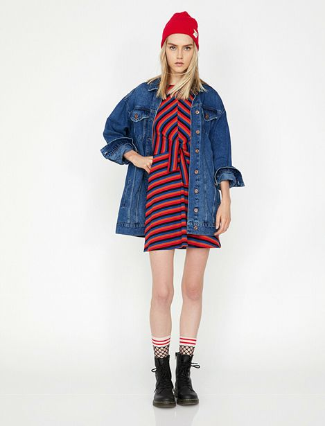 Striped Dress offre à 35,99 Dh
