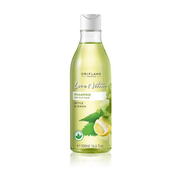 Shampooing Love Nature pour les Cheveux Gras à l'Ortie et au Citron offre à 76 Dh