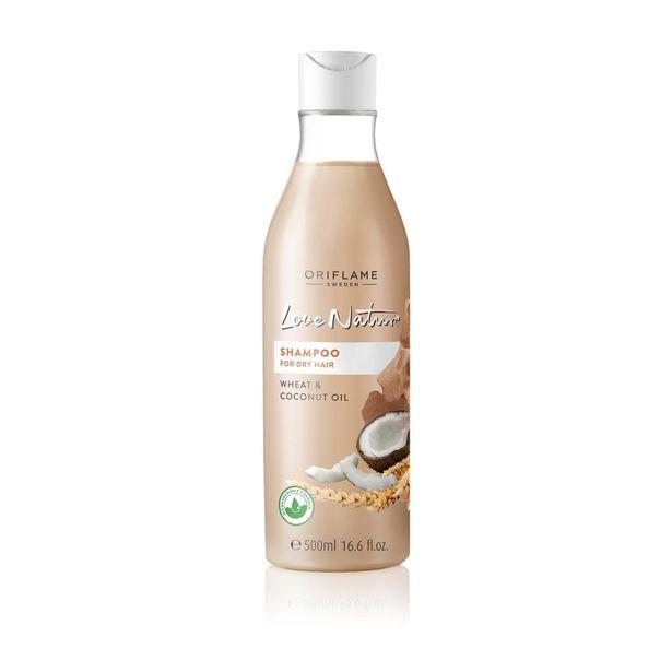 Shampooing pour les Cheveux Secs au Blé et à l'Huile de Noix de Coco Love Nature grand format offre à 59 Dh
