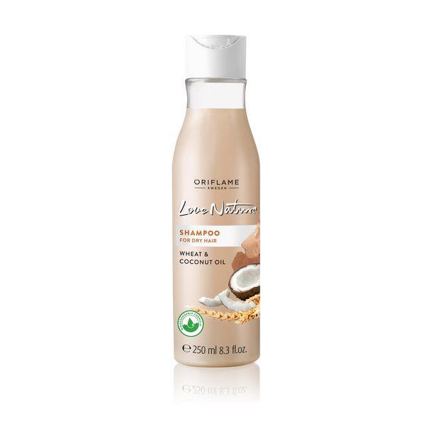 Shampooing pour les Cheveux Secs au Blé et l'Huile de Noix de Coco Love Nature offre à 35 Dh